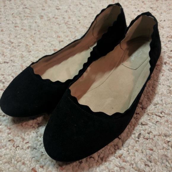 "6dbfe31b27f813 Crown Vintage Shoes - Crown Vintage ""Weslyn"" scalloped ballet flats"